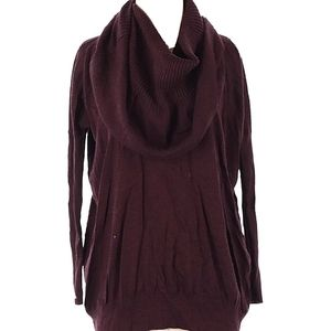 VS kiss of cashmere multi way Sweater cowl maroon